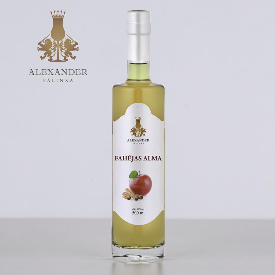 Fahéjas alma likőr